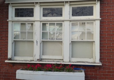 triple light sash window