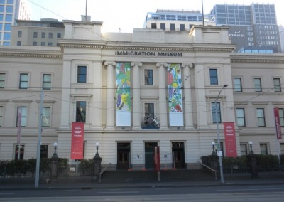 works carried out on historic immigration building, Melbourne